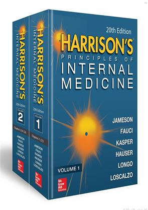Harrison's Principles of Internal Medicine(Vol.1 and VOL.2) 20th Edition 2018
