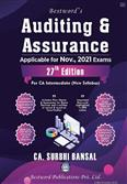 Auditing and Assurance 27th Edition For CA (Intermediate) November 2021 Exams (New Syllabus)